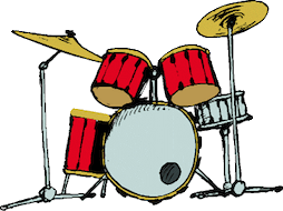 Drumset clipart - A Musician's Guide to Paid Gigs is especially for drummers, guitarists, bass players, singers, even keyboard players.