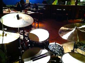 Gretch kit in subdued club setting