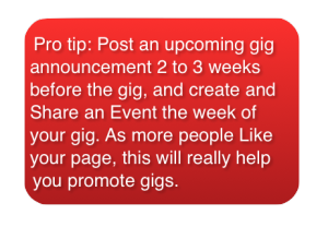 Pro Tip - Marketing your gigs with Facebook Events
