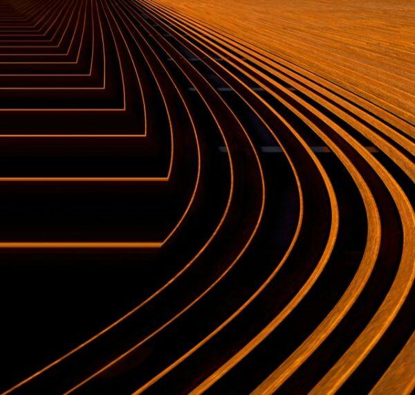 Steel curves orange
