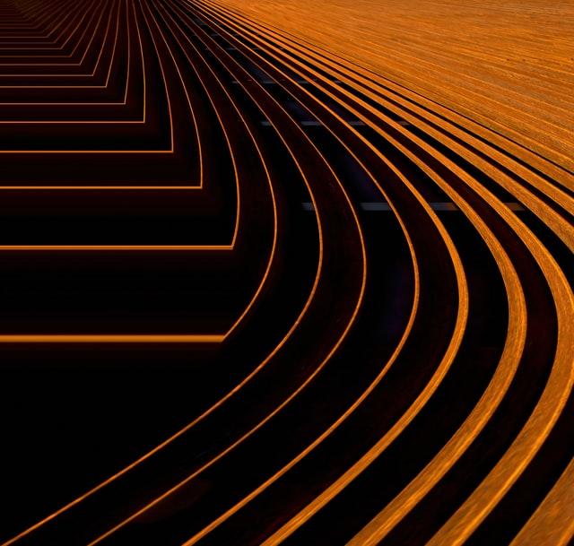 Steel curves orange on black